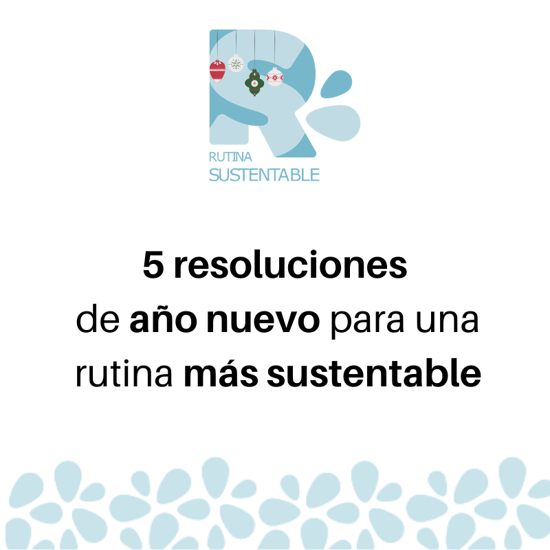 5 resoluciones de año nuevo para una rutina más sustentable