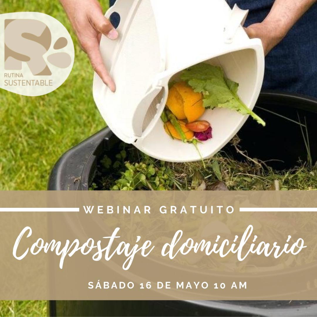 Webinar compostaje | Sábado 16 de mayo