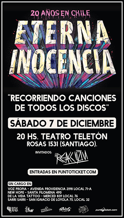 Eterna Inocencia en Santiago
