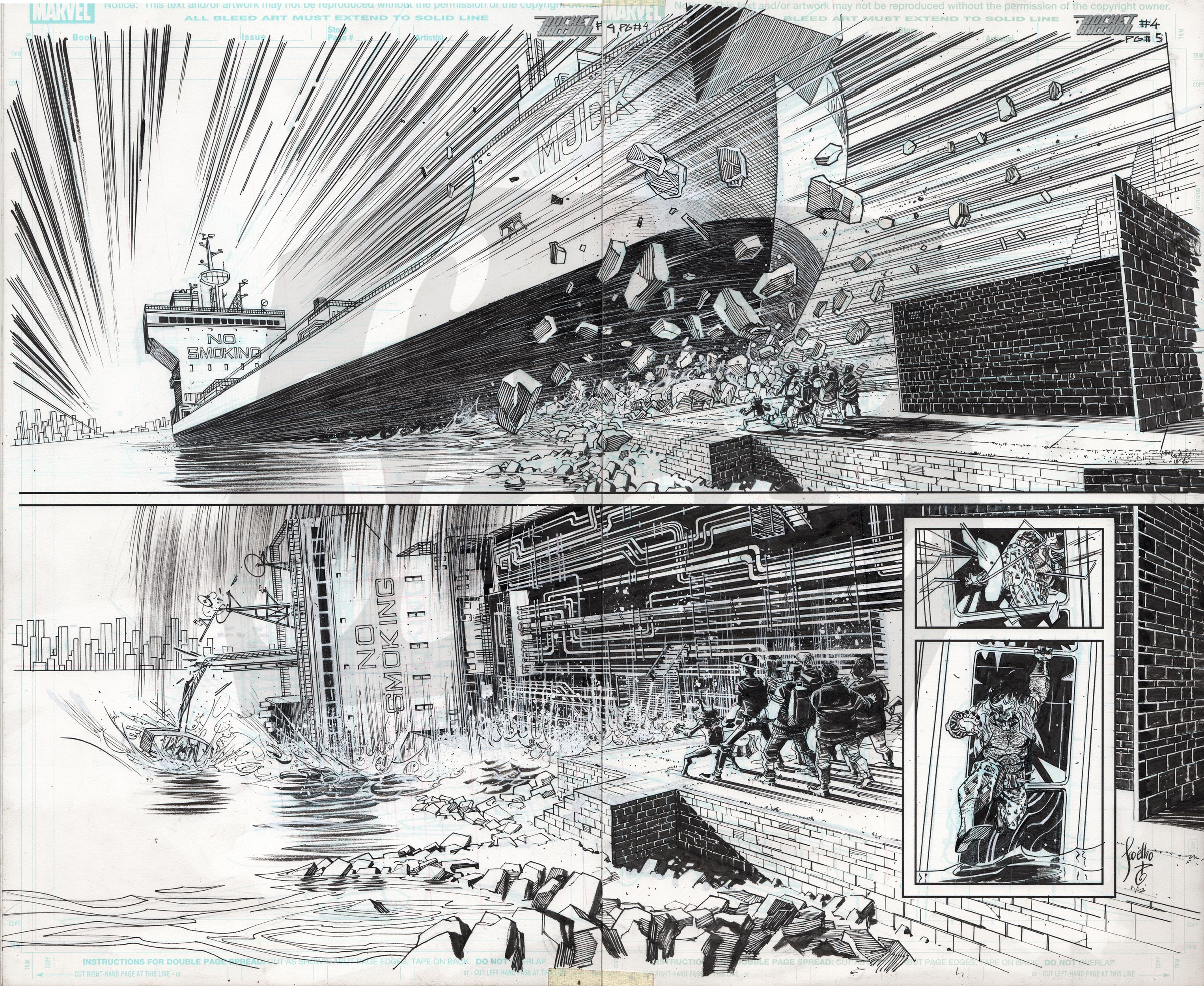 Rocket Raccoon #4, Pages 4-5 (double page spread)