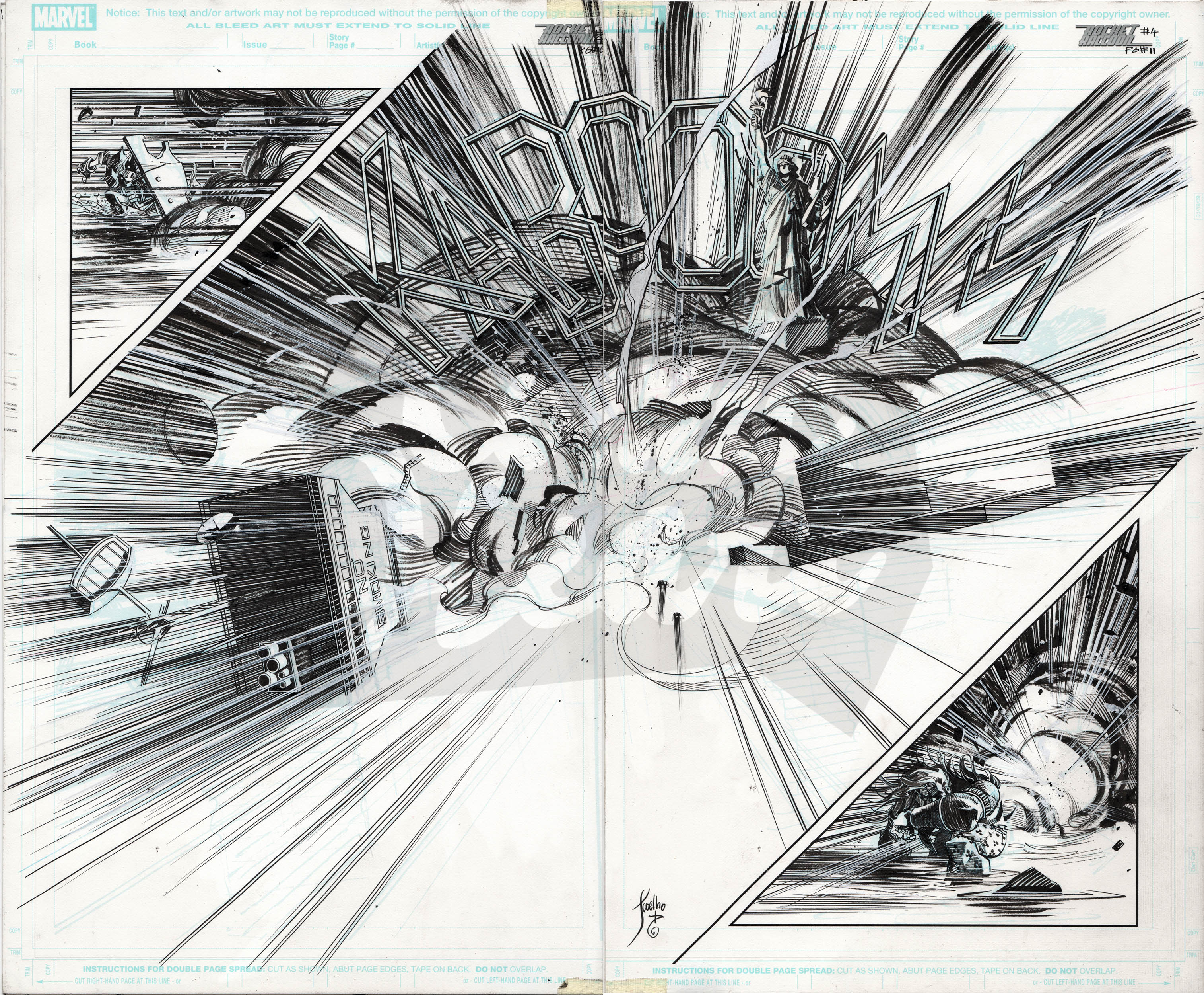 Rocket Raccoon #4, Pages 10-11 (double page spread)