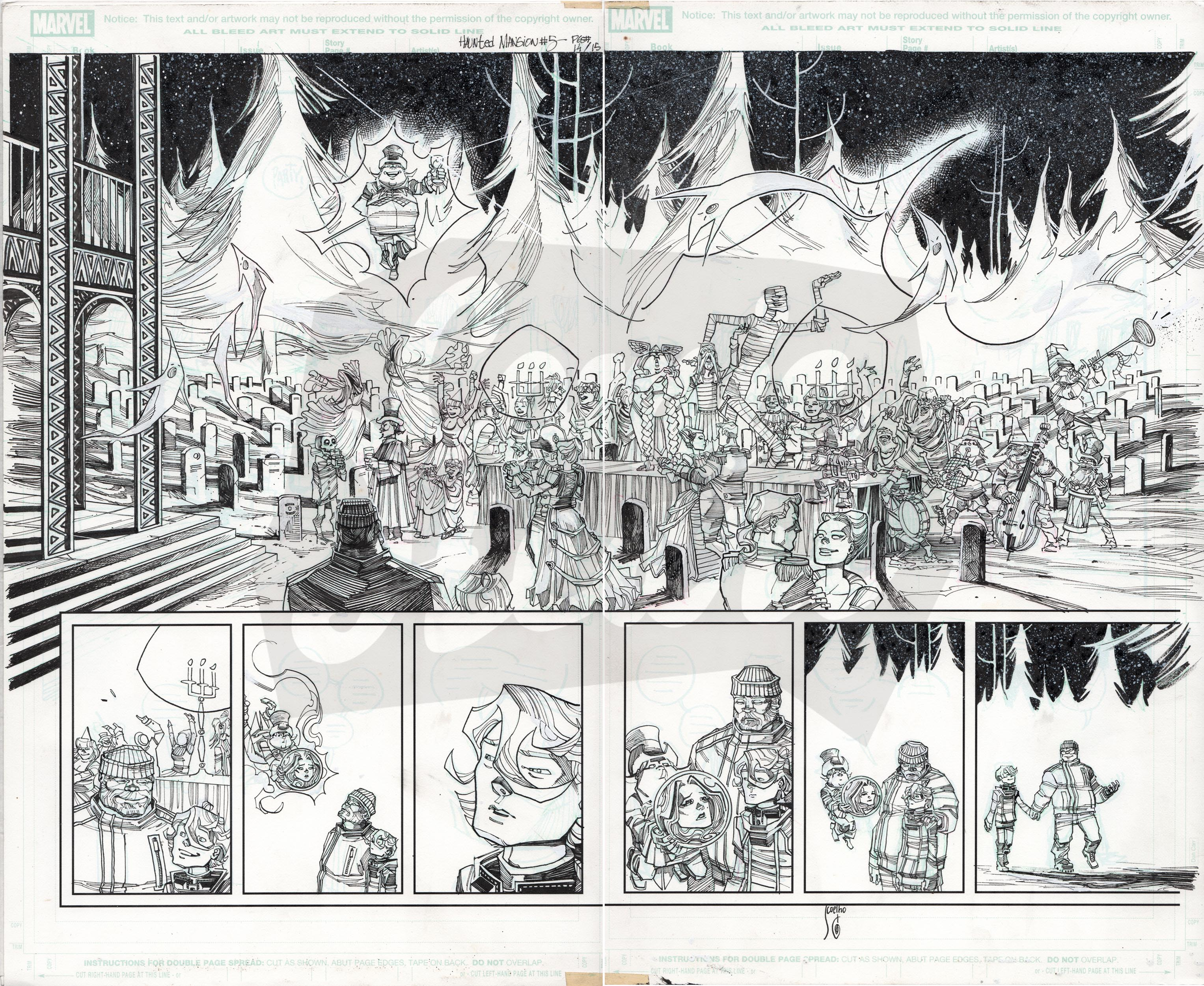 Haunted Mansion #5, Pages 14-15 (double page spread)