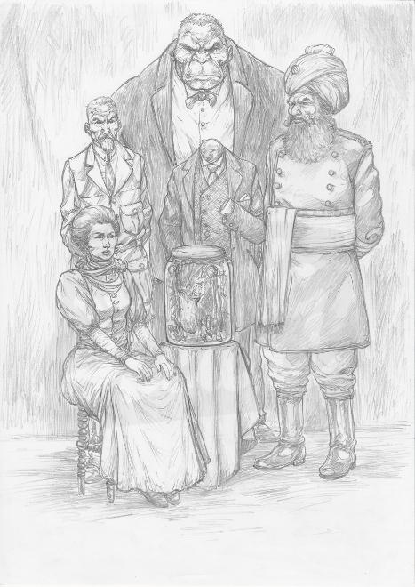 League of Extraordinary Gentlemen Illustration