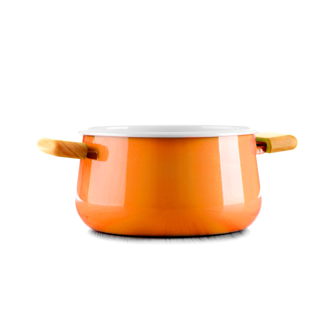 Orange Ceramic Saucepan