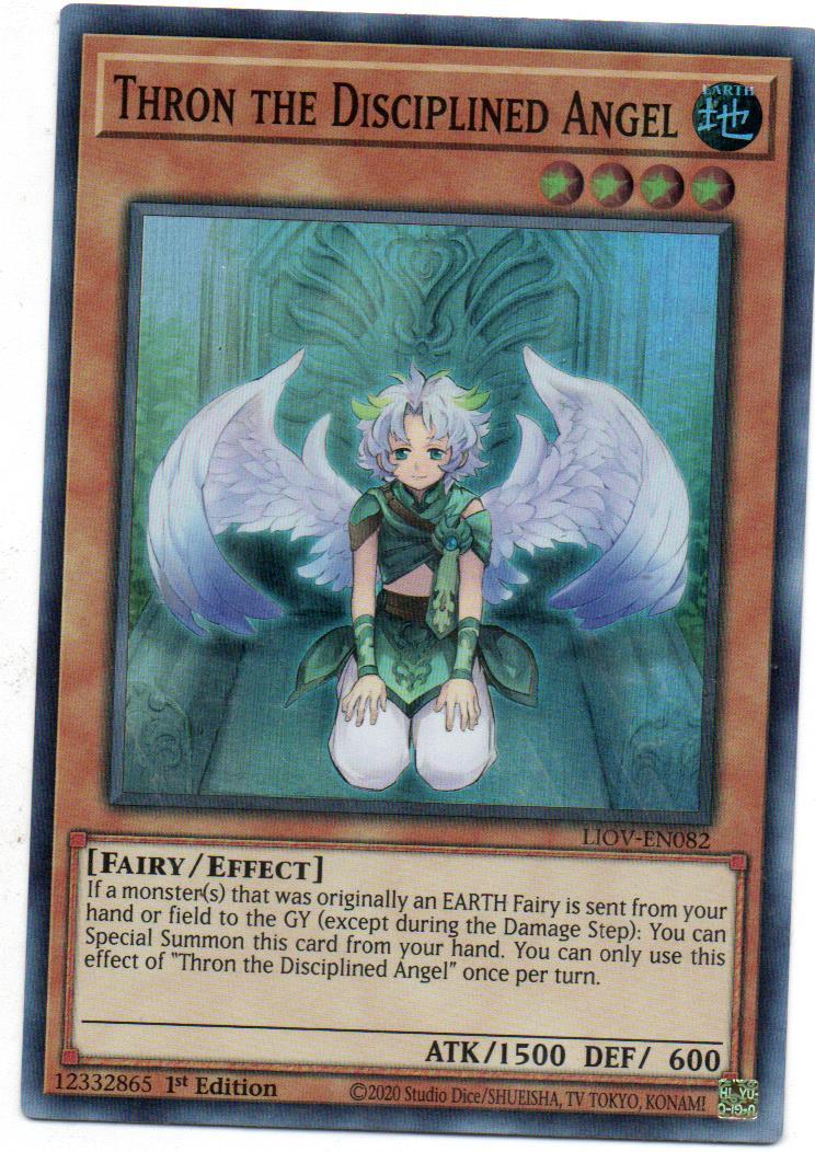 Thron the Disciplined Angel Carta Yugi LIOV-EN082