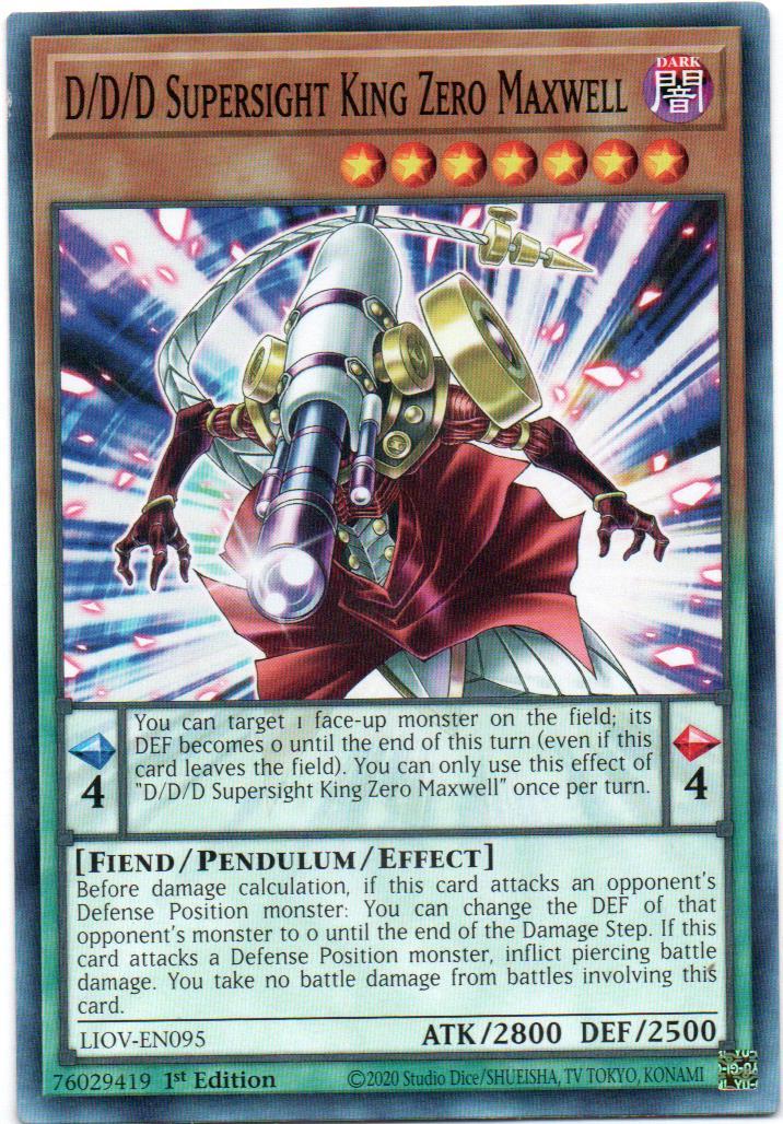 D/D/D Supersight King Zero Maxwell Carta Yugi LIOV-EN095