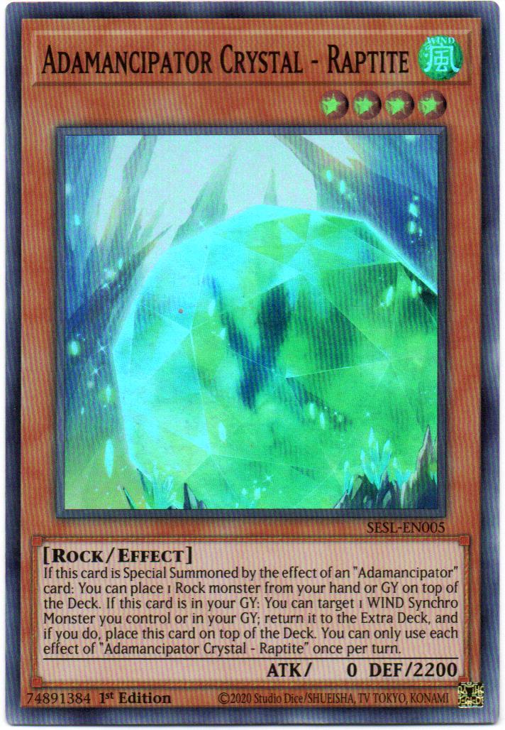 Carta Yugi Adamancipator Crystal - Raptite SESL-EN005
