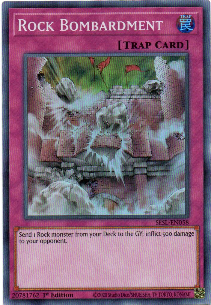 Carta Yugi Rock Bombardment SESL-EN058