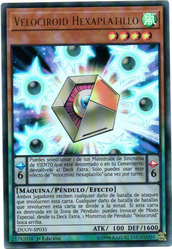 Carta Yugi Velociroid Hexaplatillo DUOV-SP035