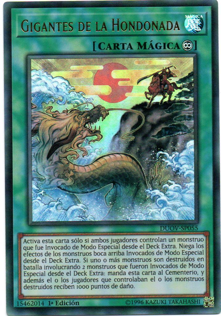 Carta Yugi Gigantes de la Hondonada DUOV-SP055