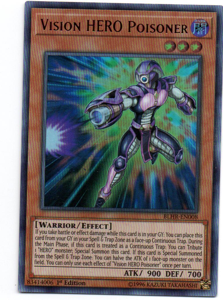 Vision HERO Poisoner Carta yugi BLHR-EN008