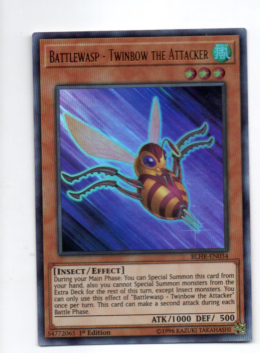 Battlewasp - Twinbow the Attacker Carta yugi BLHR-EN034