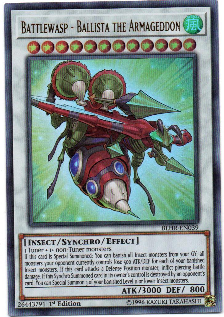 Battlewasp - Ballista the Armageddon Carta yugi BLHR-EN039