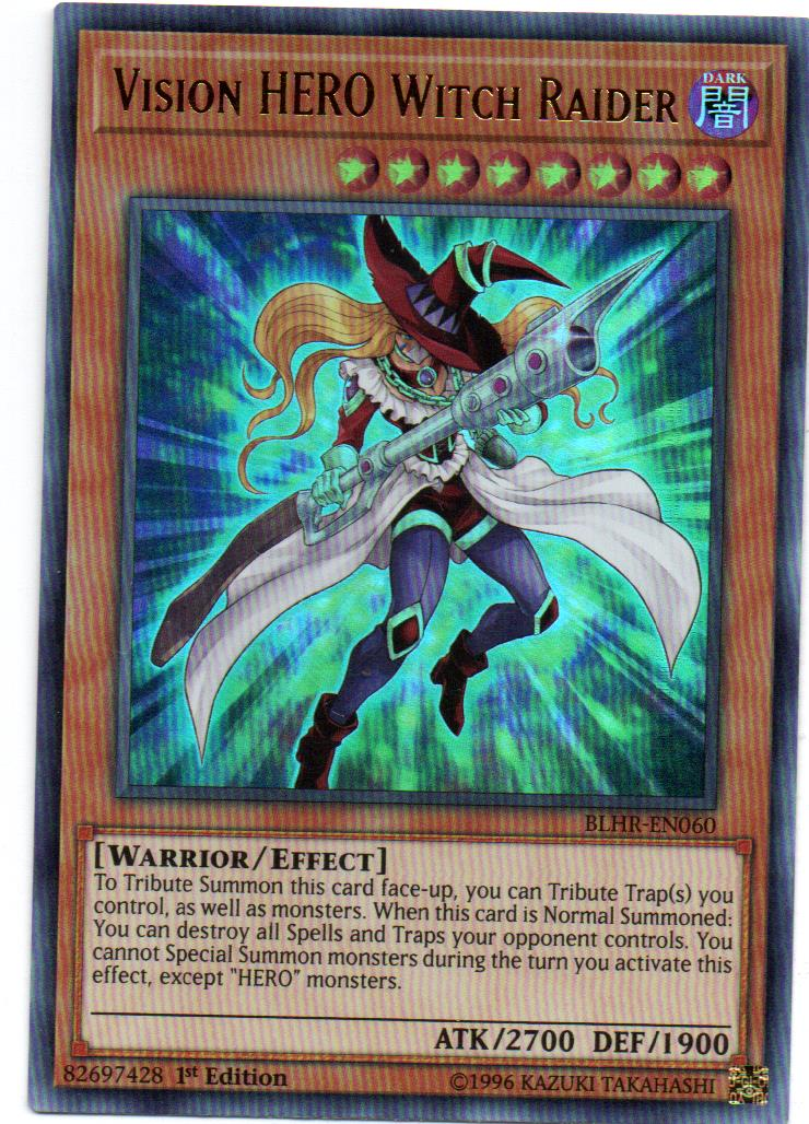 Vision HERO Witch Raider Carta yugi BLHR-EN060
