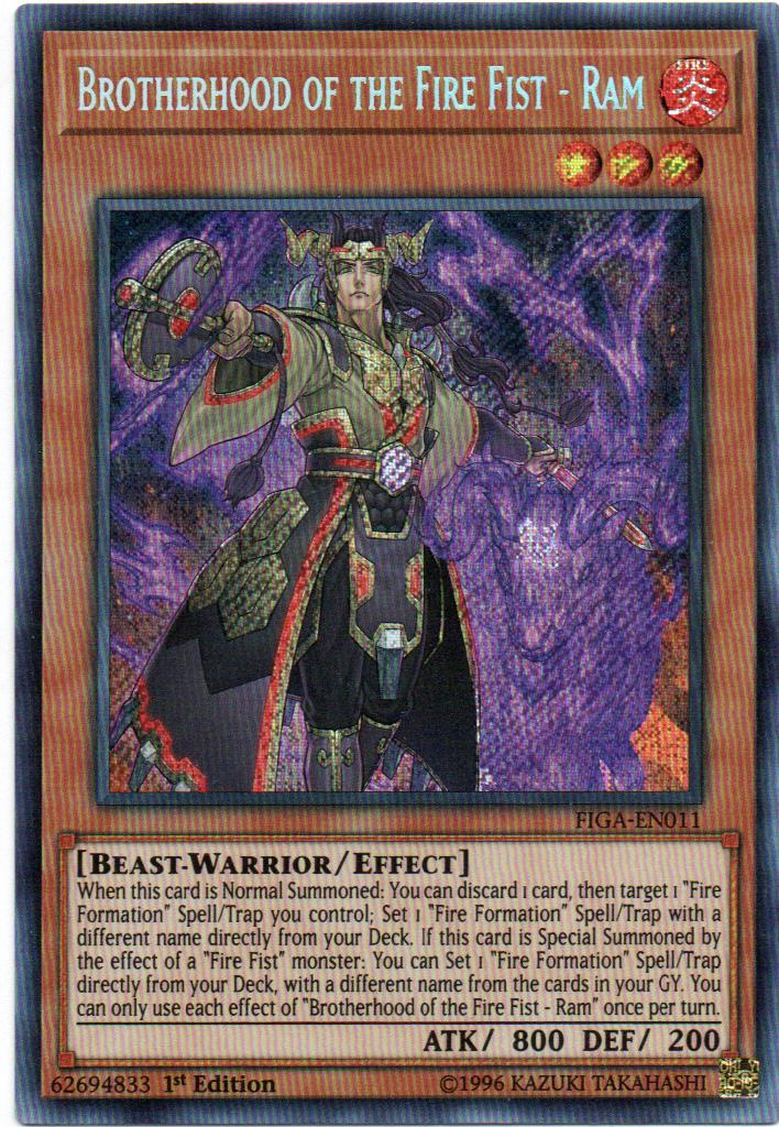 Brotherhood of the Fire Fist - Ram Carta yugi FIGA-EN011