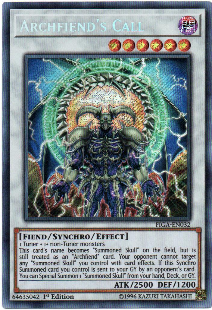 Archfiend's Call Carta yugi FIGA-EN032