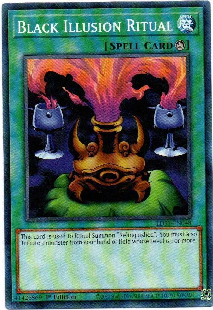 Black Illusion Ritual Carta Yugioh LDS1-EN048