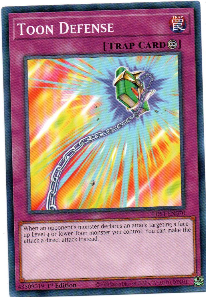 Toon Defense Carta Yugioh LDS1-EN070