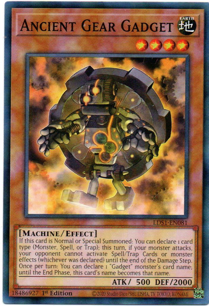 Ancient Gear Gadget Carta Yugioh LDS1-EN081
