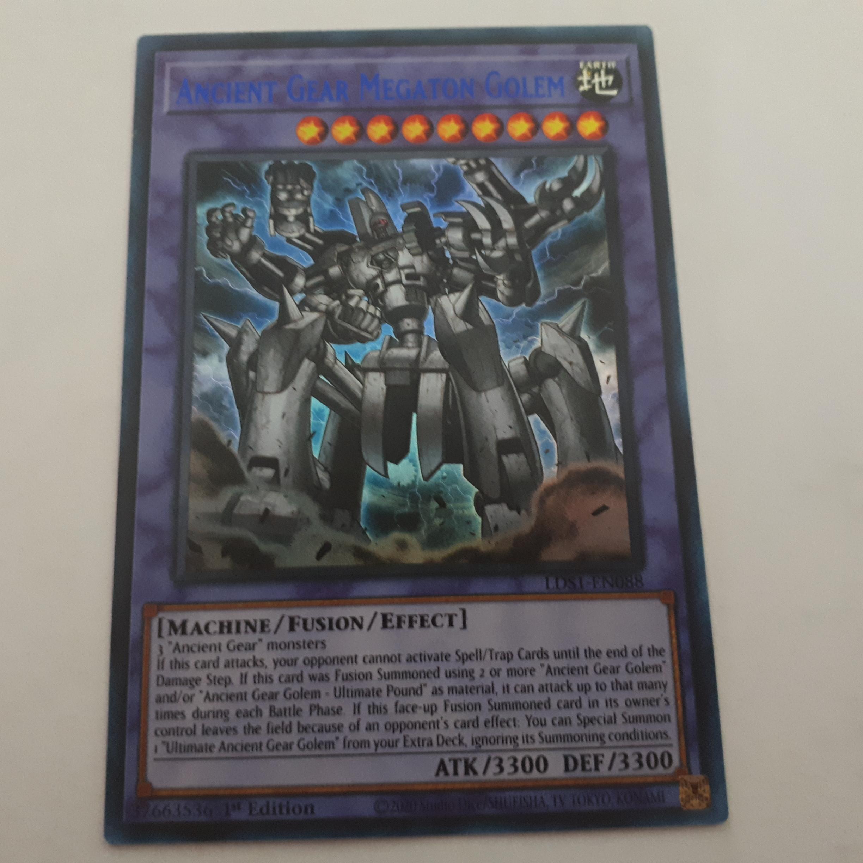 Ancient Gear Megaton Golem Carta Yugioh LDS1-EN088