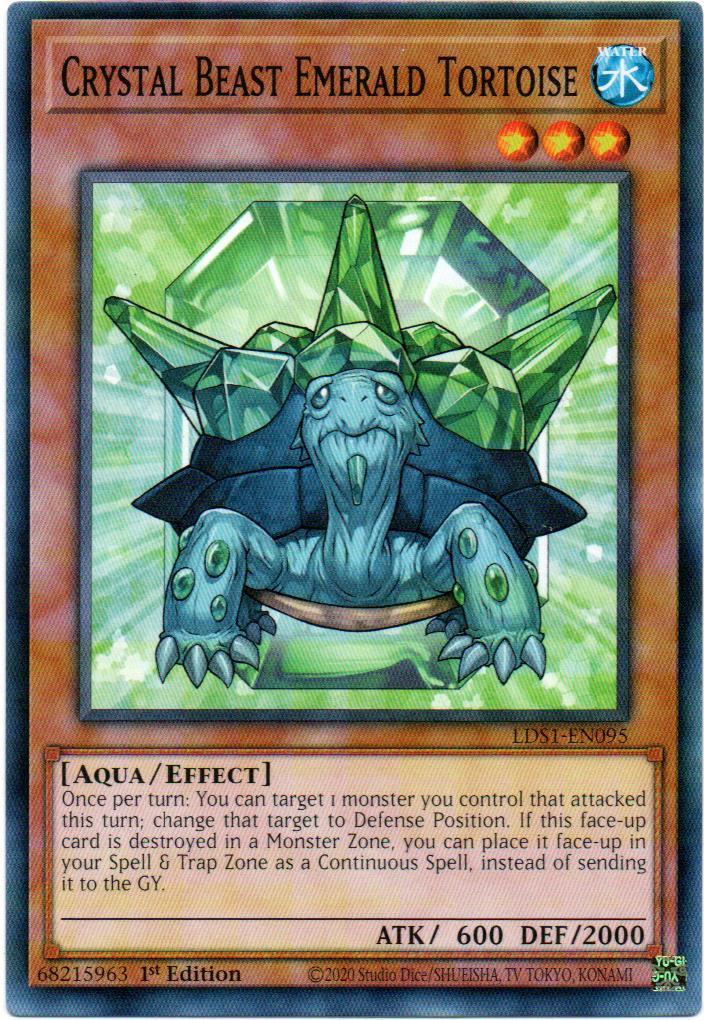 Crystal Beast Emerald Tortoise Carta Yugioh LDS1-EN095