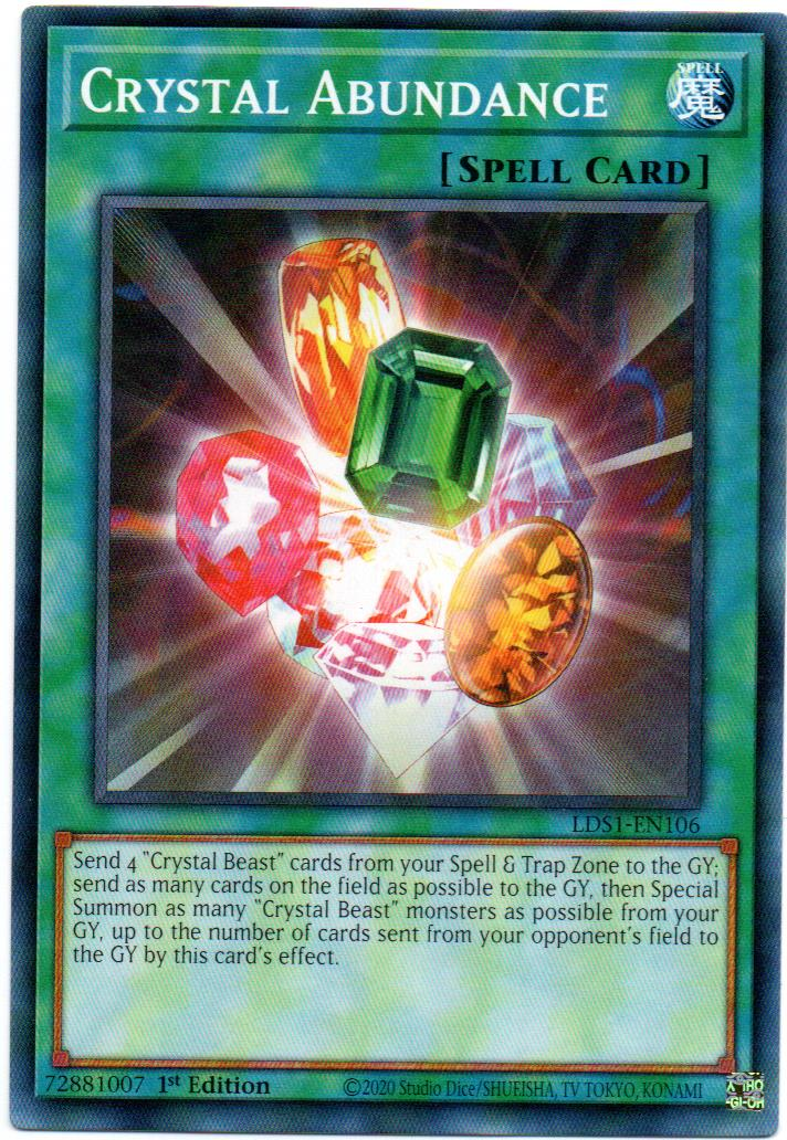 Crystal Abundance Carta Yugioh LDS1-EN106