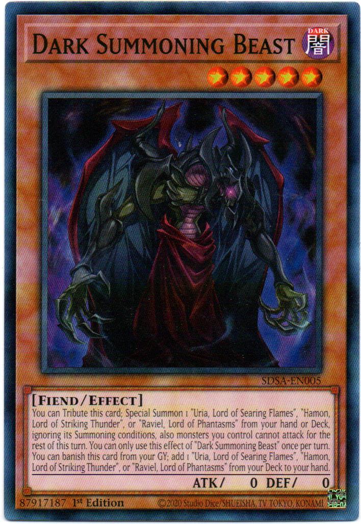Dark Summoning Beast Carta yugi SDSA-EN005
