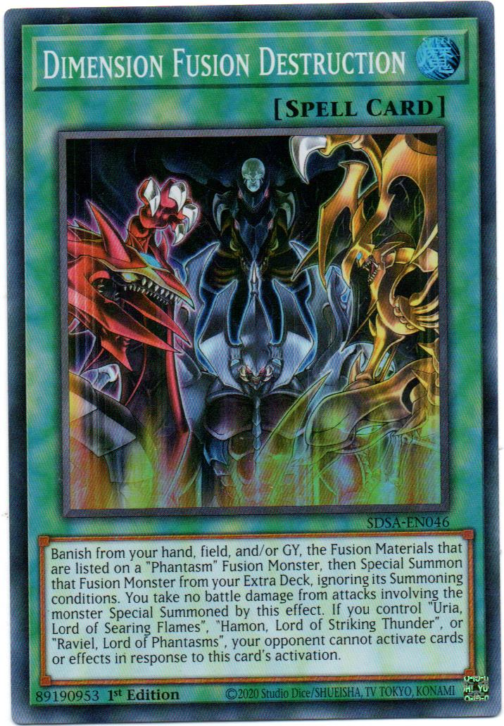 Dimension Fusion Destruction Carta yugi SDSA-EN046