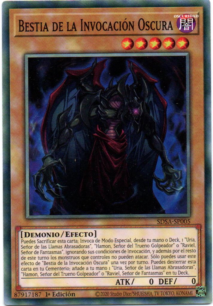 Bestia De La Invocacion Oscura carta yugi SDSA-SP005