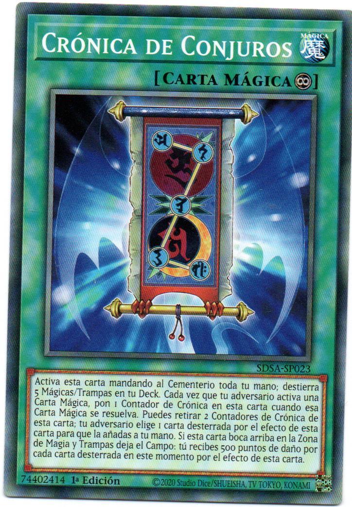 Cronica de Conjuros carta yugi SDSA-SP023