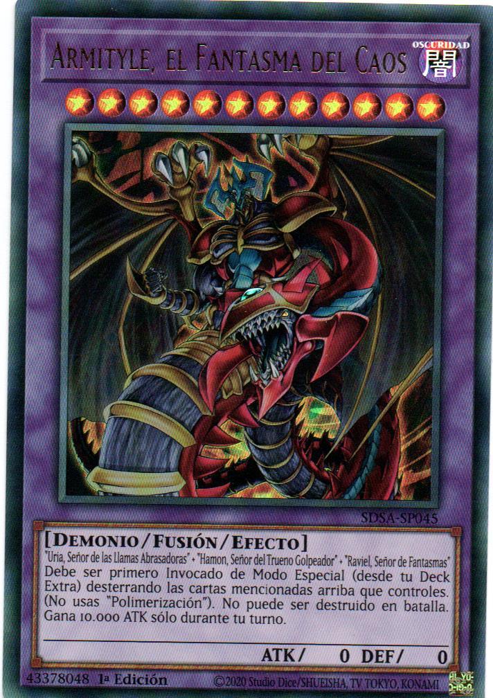 Armityle El Fantasma Del Caos carta yugi SDSA-SP045