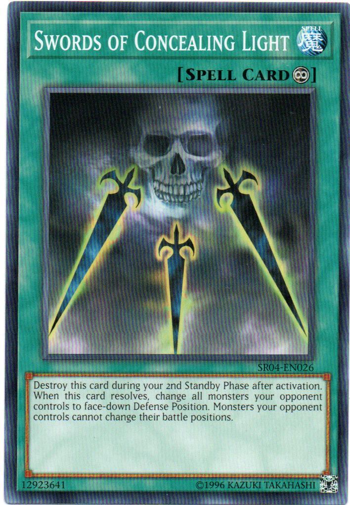 Swords of Concealing Light Carta yugioh SR04-EN026