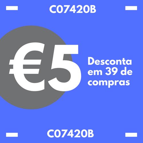 CUPÃO 5 EUROS