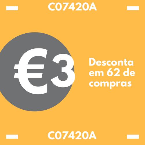CUPÃO 3 EUROS