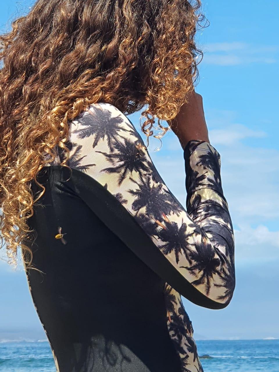 Bodysurf Líneas Laterales Black Palm