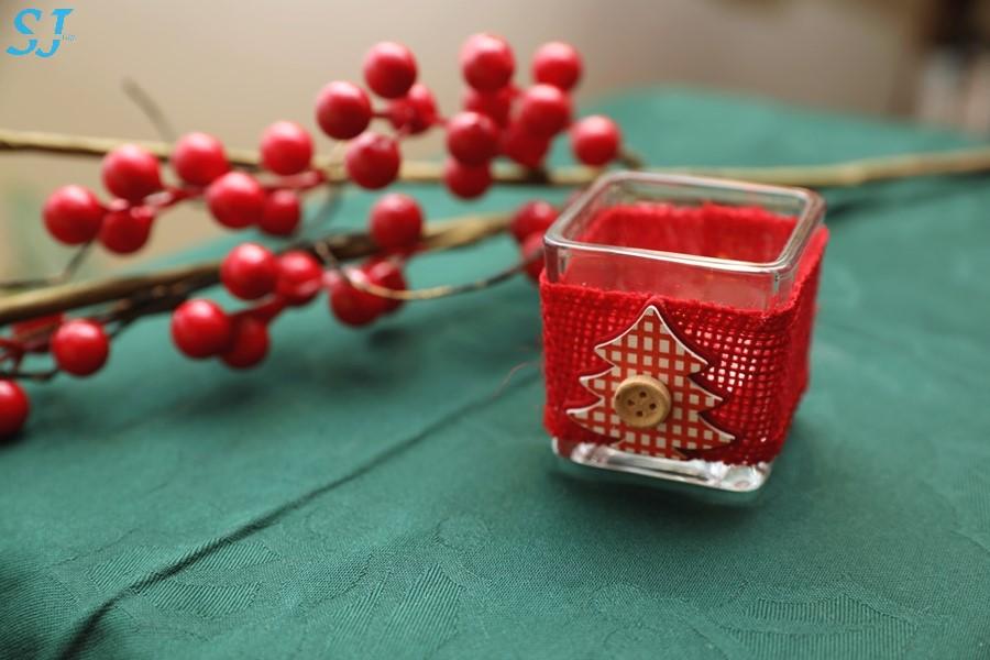 Porta vela Árvore de Natal