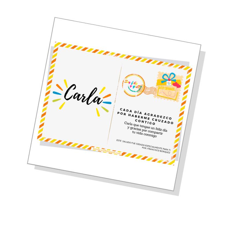 Agradecimiento ( Saludo Digital - Producto Personalizado)