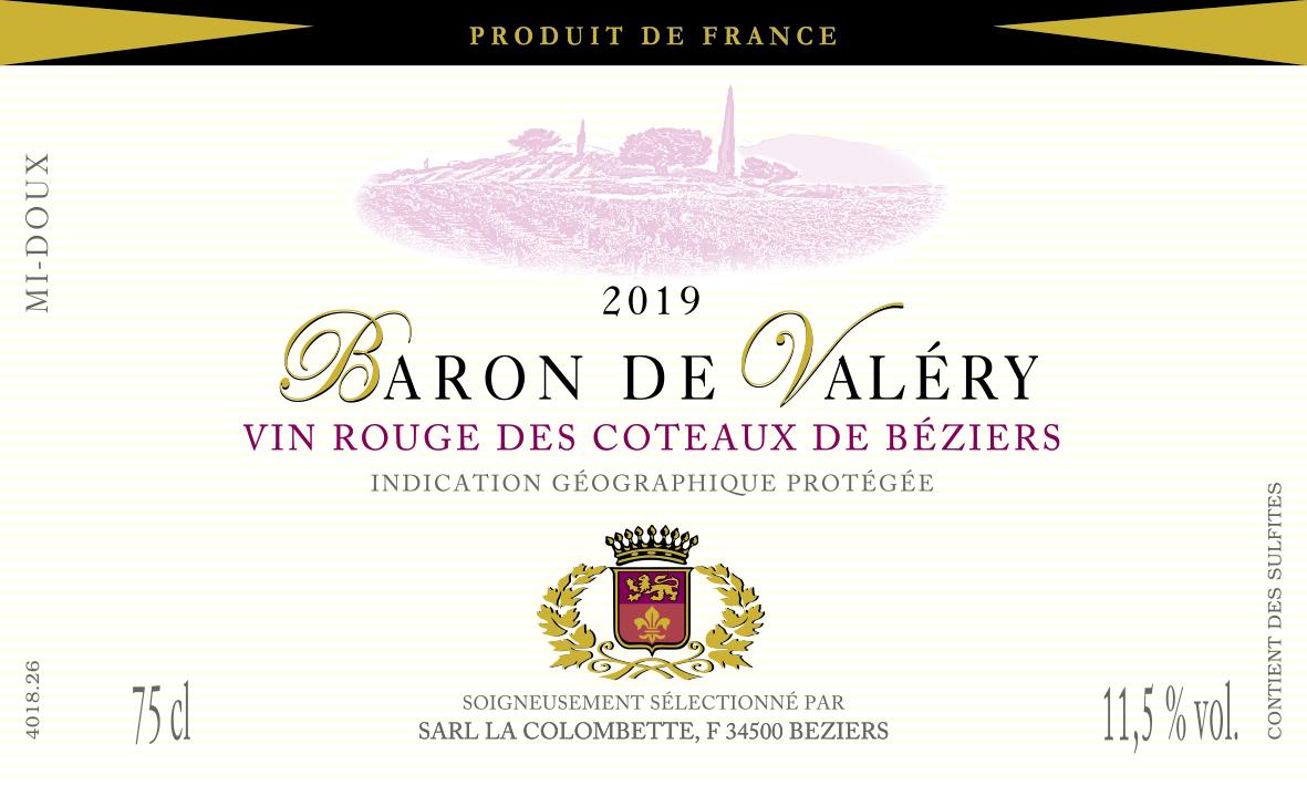 2019 Baron de Valéry