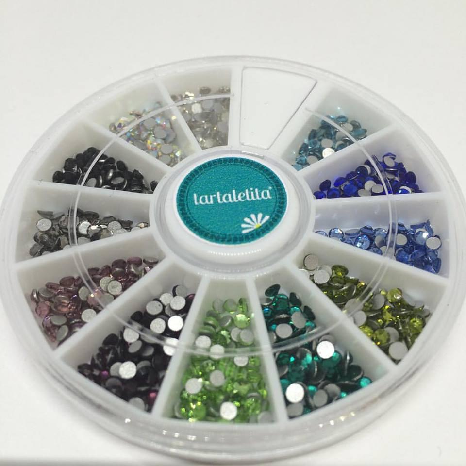 Rueda Cristales 12 colores 2mm