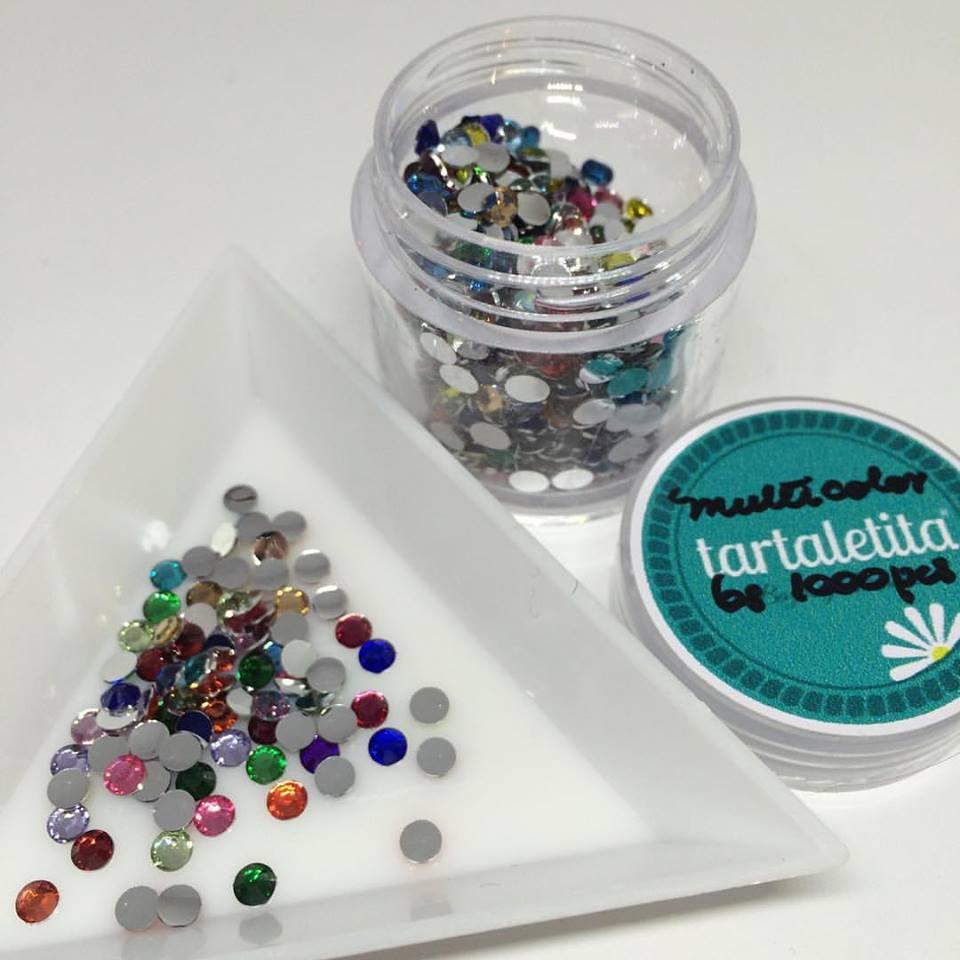 Cristales de resina multicolor 3 mm