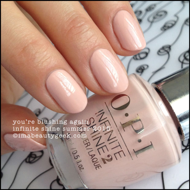 Esmalte OPI Infinite Shine - You're Blushing Again