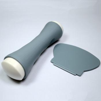 Set 2 piezas estampador gris