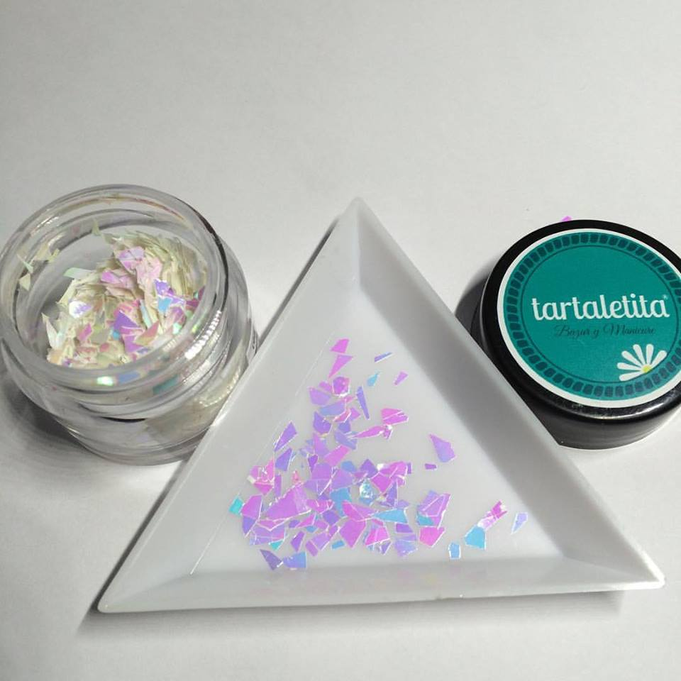 Glitter Pink Glass
