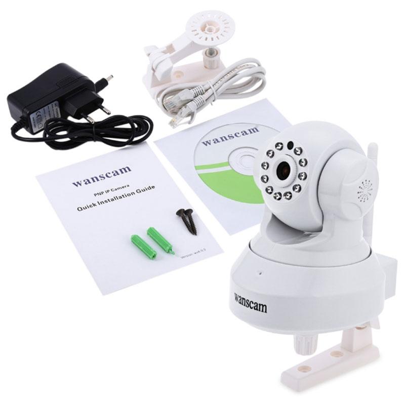 CAMARA IP WIFI HD 720P TEC-HW24 - SLOT MICRO SD - ROBOTIZADA Blanca