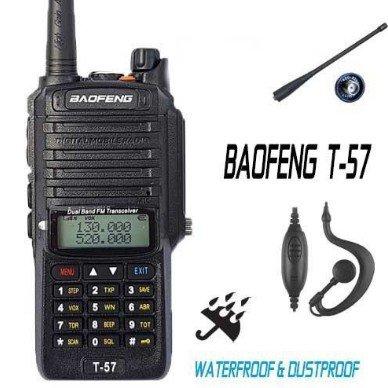 RADIO HANDY BAOFENG T-57 VHF/UHF IP67 WATERPROOF - DUSTPROOF