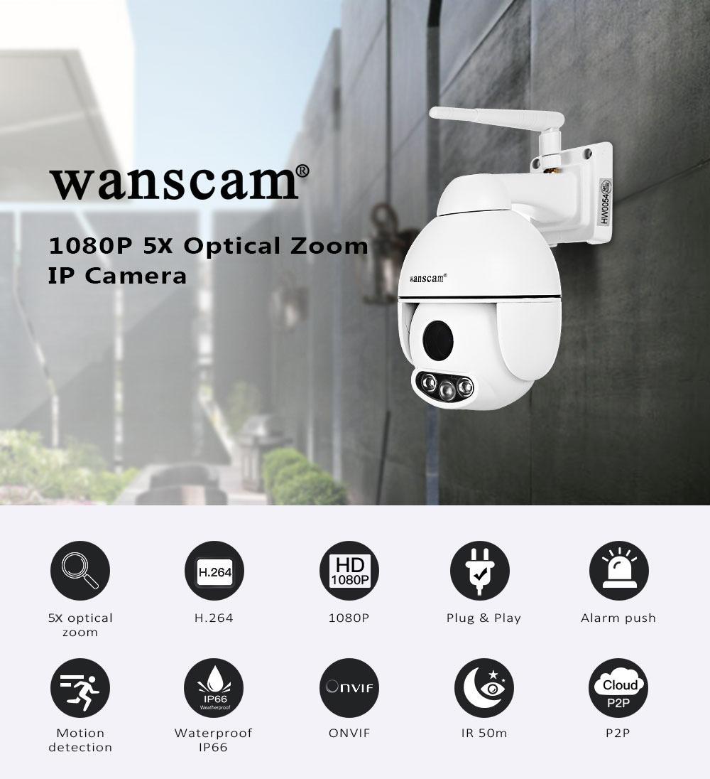 CAMARA IP WIFI HW0054 – ZOOM ÓPTICO 5X – FULLHD 1080P
