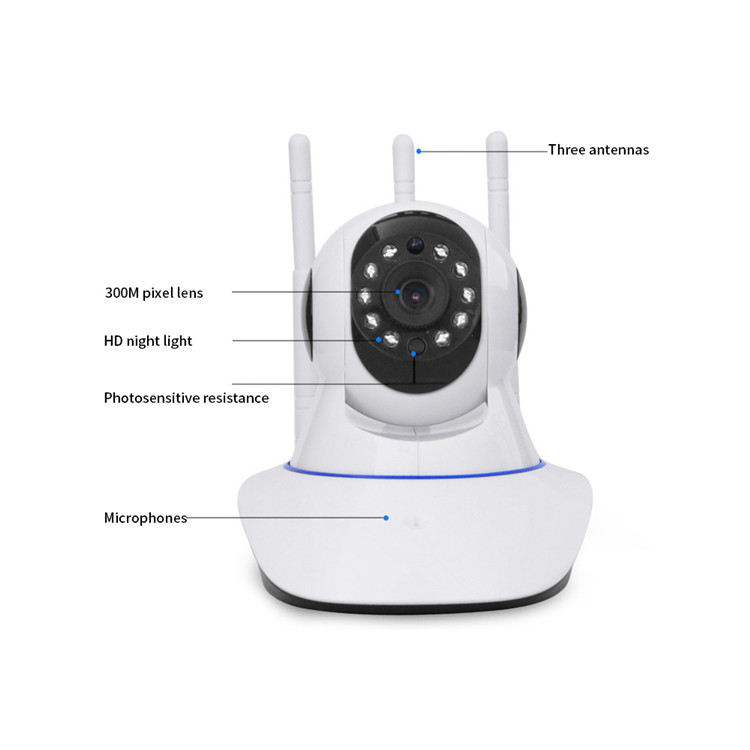 CAMARA IP WIFI 1080P ICSEE LP200 PAN TILT