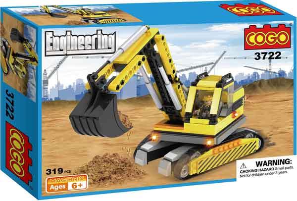 Pala Mecánica Construcción Cogo compatible con Lego - Tec-Toys