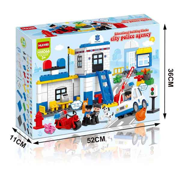 Estación de Policía HuiMei compatible con Lego Duplo - Tec-Toys