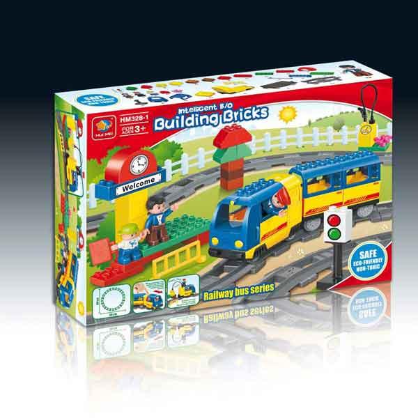 Tren de Pasajeros a pilas HuiMei compatible con Lego Duplo - Tec-Toys